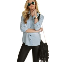 Lt. Blue Kourtney Chambray Shirt