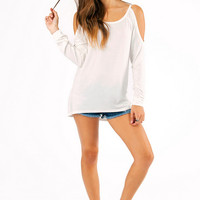 Cassidy Cold Shoulder Sweater $29