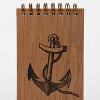 Urban Outfitters - Spitfire Grill Wood Cover Spiral Notepad
