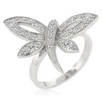 Dragonfly Inspired Ring, size : 07