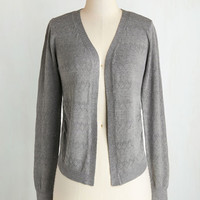 Scholastic Mid-length Long Sleeve Textbook Cutie Cardigan in Grey