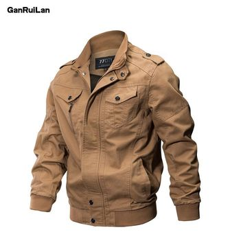 Trendy Winter Jacket 2018 New Military  Men Winter Cotton  Coat Army Men's Pilot s Air Force Spring Cargo Large size 6XL JK18018 AT_92_12