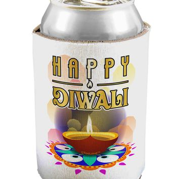 Happy Diwali - Rangoli and Diya Can / Bottle Insulator Coolers by TooLoud