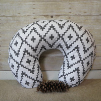 Southwest Diamond Boppy Cover, Black and White Tribal Nursing Pillow Cover, Gender Neutral/