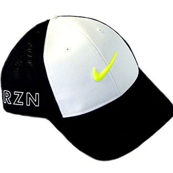 NEW Nike Tour Legacy Mesh RZN/Vapor Medium/Large White/Black/Volt Hat/Cap