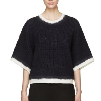 3.1 Phillip Lim Navy Dip-dye Sweater