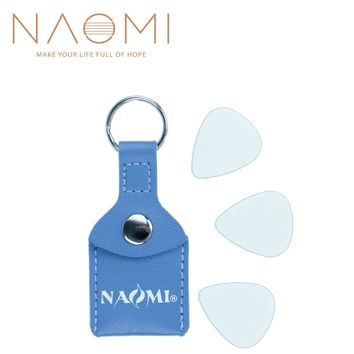 Naomi Guitar Picks Faux Leather Key Chain Style Bass Guitar Picks Plectrums Bag Holder Case Bottle Type 3 Free Guitar Picks