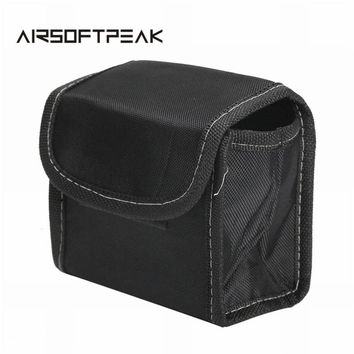 AIRSOFTPEAK Tactical Head Lamp Pouch Hunting Cycling Combat Ammo Magazine Pouch Black Dump Drop Sundries Pouches