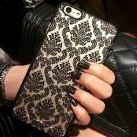 Vintage Hollow Out Floral Case for iPhone