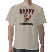 Happy Father's Day Barbecue/Grill T-Shirt from Zazzle.com