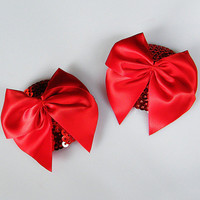 Red Bow Tie Sequined Pasties
