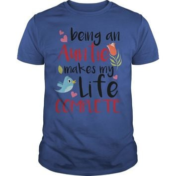 Being an aunt makes my life complete shirt Premium Fitted Guys Tee