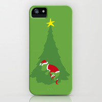 WHEN THE GRINCH COMES iPhone & iPod Case by Agustin Flowalistik