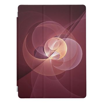 Movement Abstract Modern Wine Red Pink Fractal Art iPad Pro Cover