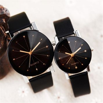 Leather Band Dress Couple Watch