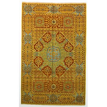 Oriental Mamlook Wool Oriental Rug, Red/Green