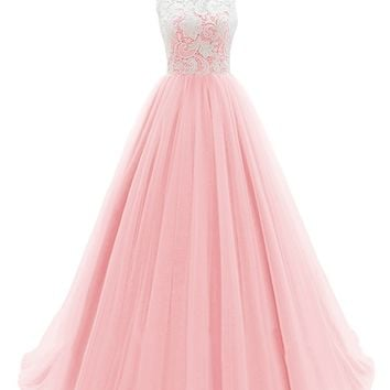 dresstells174 long prom dress tulle evening from amazon