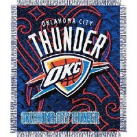 "Oklahoma City Thunder NBA Triple Woven Jacquard Throw (Tattoo Series) (48""x60"")"