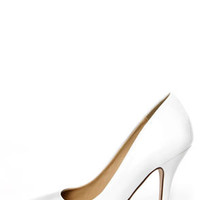 My Delicious Date White Patent Pointed Pumps