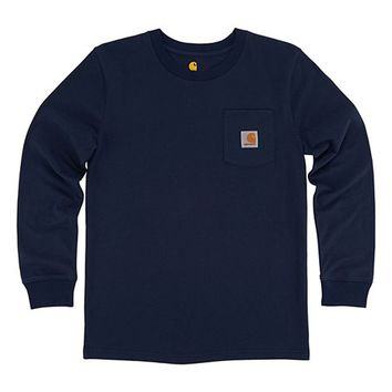 Carhartt Navy Blazer Pocket Tee - Boys