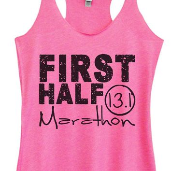 Womens Tri-Blend Tank Top - FIRST HALF 13.1 Marathon