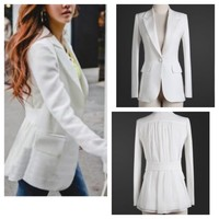 Blazer Lover in White