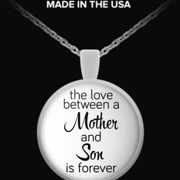 Love Between Mother and Son - Round Necklace love-my-son-necklace