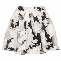 **PRINTED SKATER SKIRT BY RARE
