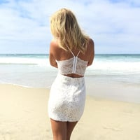 Beyond The Surface Bodycon Dress In Ivory