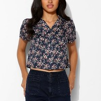 Coincidence & Chance Cropped Diner-Collar Shirt - Urban Outfitters