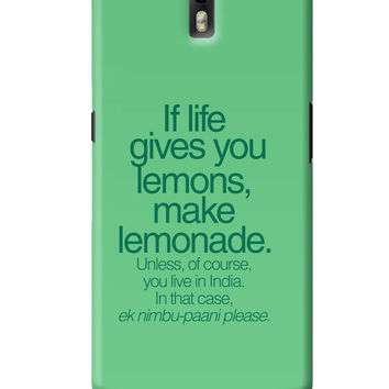 When Life Gives You Lemons Funny Quote OnePlus One Cover