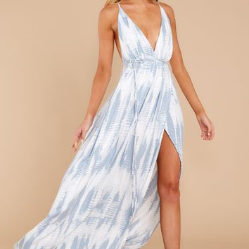 Try Something New Blue Tie Dye Maxi Dress