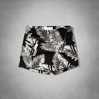 Pattern Zipper Wrap Skort