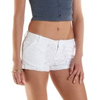 Low Rise Lace Shorts by Charlotte Russe
