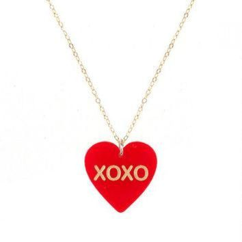 CREYONB CONVERSATION HEART NECKLACE