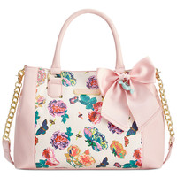 Betsey Johnson Floral Satchel