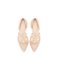 SHINY BALLERINA WITH ANKLE STRAP - Shoes - Woman - New collection | ZARA United States