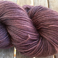Hand Dyed Yarn - Browns Old Roses - Superwash Bluefaced Leicester Wool - 4 ply Fingering Weight Yarn 100gr