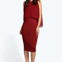 Lisa Double Layer Midi Bodycon Dress