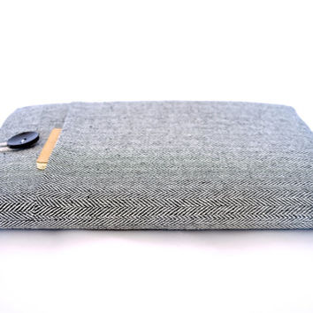 "14"" to 15.6"" Laptop Sleeve 15"" MacBook Pro Retina Display Case Cover Unisex Men Padded - Herringbone"