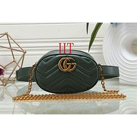 """Gucci"" Fashion Women Classic Metal Logo Letter Waist Bag Chest Bag Shoulder Bag Green I-MYJSY-BB"