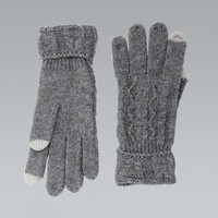 MissKrisp Woolen Touch Screen Grey Gloves - Accessories from Krisp Clothing UK