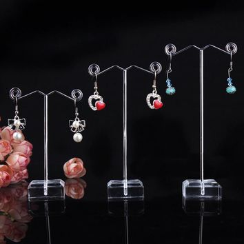 Jewelry Holders 3pcs Acrylic Metal Tree earring