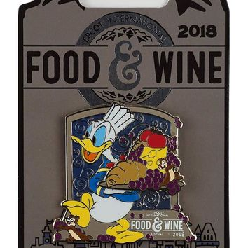 Disney 2018 Food and Wine Festival Donald Chef Limited Edition Pin New with Card