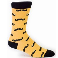 Men's Mustache Socks - Crew Socks by Sock it To Me