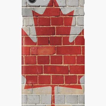 'Canada flag on a brick wall' iPhone Case/Skin by steveball
