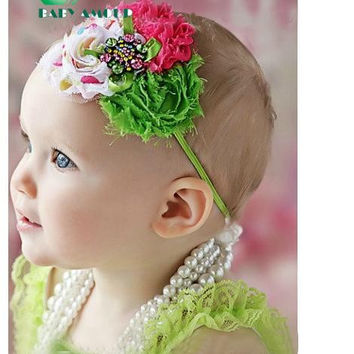 baby headband girls' hairbands fashion Christmas gift hair tie Head bands Children's Hair Accessories 28 colors for choose