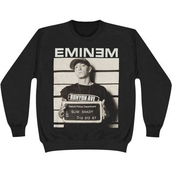 Eminem Men's  Arrest Sweatshirt Black Rockabilia