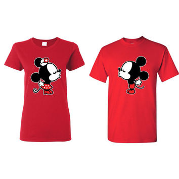 Minnie and mickey couples t-shirt, couples clothing, valentines day couples t-shirt, gift for her, gift for him