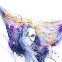 Big Bang in watercolor Art Print by agnes-cecile